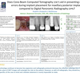 CAT case - CBCT implant placement poster